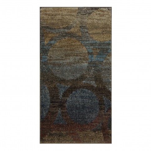Covor living / dormitor Oriental Weavers Antigua X 5998/DG1 polipropilena frize dreptunghiular maro + albastru 120 x 170 cm