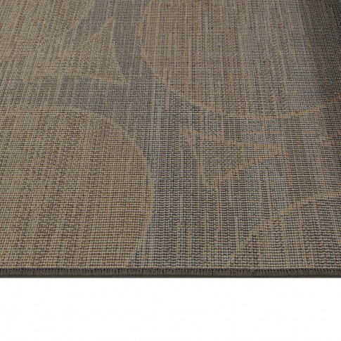 Covor living / dormitor Oriental Weavers Antigua X 5998/DG1 polipropilena frize dreptunghiular maro + albastru 160 x 235 cm
