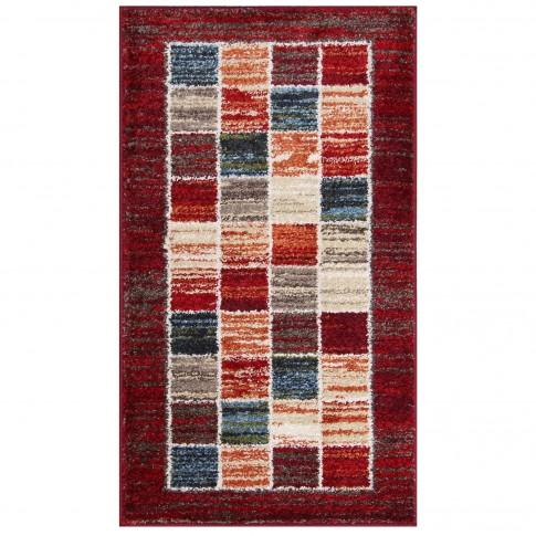 Covor living / dormitor Oriental Weavers Mirabelle R 74/DW6 polipropilena frize dreptunghiular rosu 80 x 140 cm