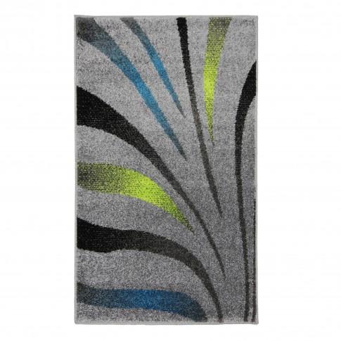 Covor living / dormitor Oriental Weavers Marko E 614/AL1 polipropilena frize dreptunghiular gri 60 x 110 cm