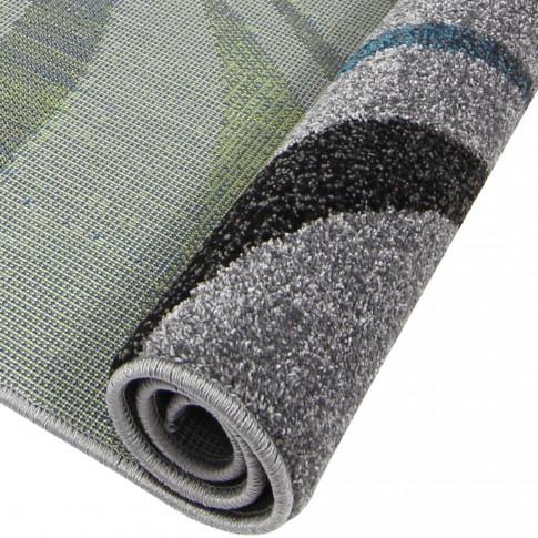 Covor living / dormitor Oriental Weavers Marko E 614/AL1 polipropilena frize dreptunghiular gri 80 x 140 cm