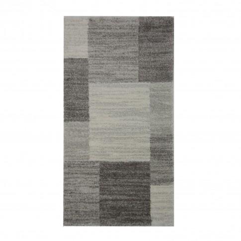 Covor living / dormitor McThree Softn 6898 G204 polipropilena frize, heat-set dreptunghiular gri 200 x 290 cm