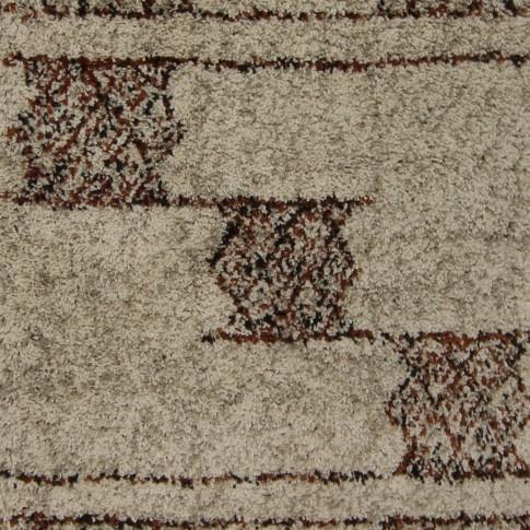 Covor living / dormitor McThree Boho 8320 H915 polipropilena frize dreptunghiular bej 80 x 150 cm