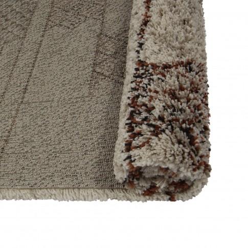 Covor living / dormitor McThree Boho 8320 H915 polipropilena frize dreptunghiular bej 120 x 170 cm