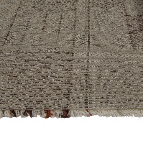 Covor living / dormitor McThree Boho 8320 H915 polipropilena frize dreptunghiular bej 200 x 290 cm