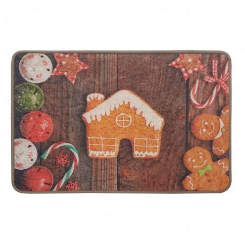 Covoras craciun living / dormitor 11993 turta dulce poliester dreptunghiular multicolor 60 x 90 cm