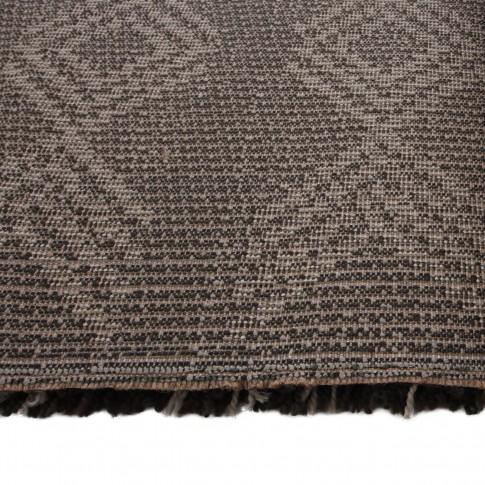 Covor living / dormitor McThree Boho 8741 H991 polipropilena frize dreptunghiular maro 120 x 170 cm