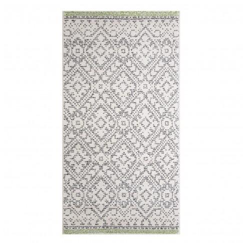 Covor living / dormitor McThree Swing 8683 3P16 polipropilena frize, heat-set dreptunghiular crem 80 x 150 cm