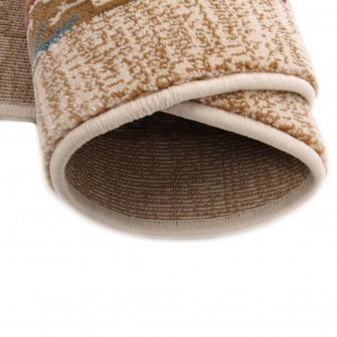 Covor living / dormitor Carpeta Atlas 81662-41533 polipropilena heat-set oval bej 80 x 150 cm