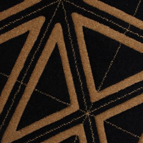 Covor living / dormitor Carpeta Soho 19481-17144 polipropilena frize dreptunghiular negru 120 x 170 cm