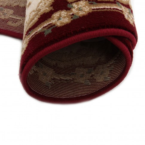 Covor living / dormitor Carpeta Atlas 30242-41355 polipropilena heat-set oval bordo 80 x 150 cm