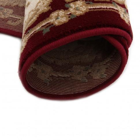 Covor living / dormitor Carpeta Atlas 30242-41355 polipropilena heat-set oval bordo 160 x 230 cm