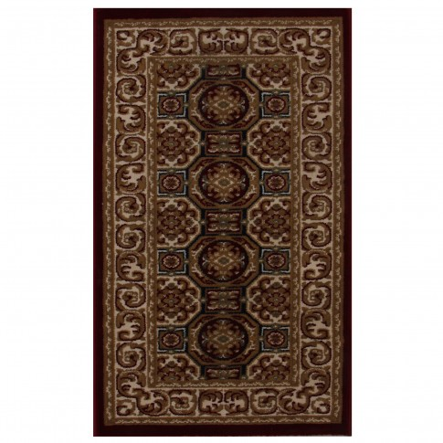 Covor living / dormitor Carpeta Atlas 1721-41355 polipropilena heat-set dreptunghiular bordo 60 x 110 cm