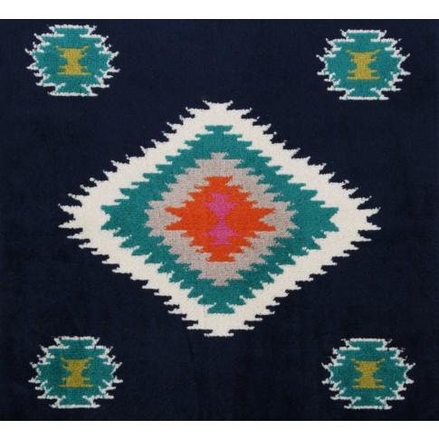 Covor living / dormitor oriental Weavers Sonic B 560/IA polipropilena heat-set dreptunghiular albastru 80 x 140 cm