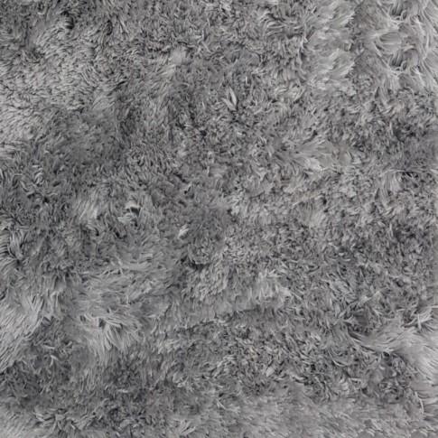 Covor living / dormitor Wuhan Chip Shaggy 4 poliester dreptunghiular gri 80 x 150 cm