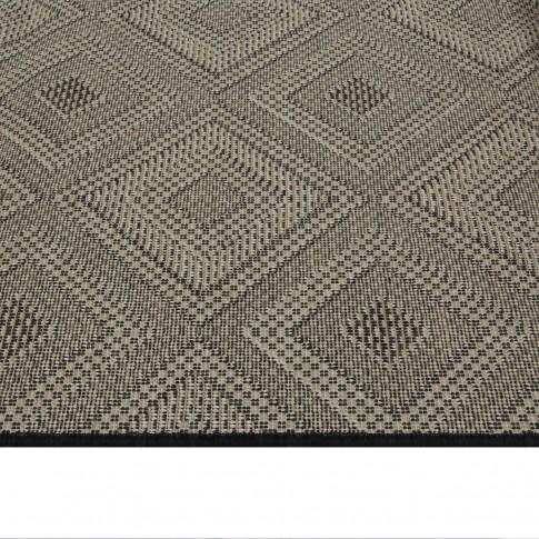 Covor living / dormitor McThree Origin 8207 9H58 Jute polipropilena flatweave dreptunghiular negru 120 x 170 cm