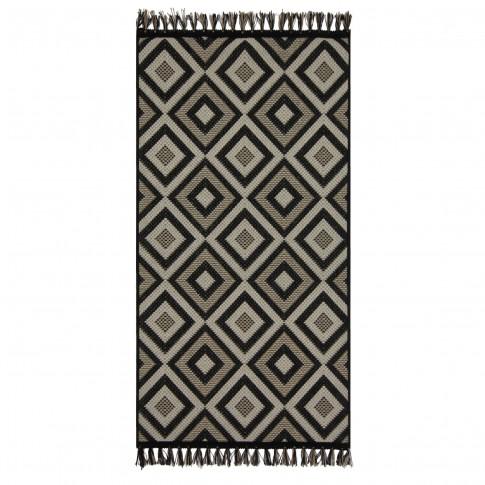 Covor living / dormitor McThree Origin 8207 9H58 Jute polipropilena flatweave dreptunghiular negru 160 x 230 cm