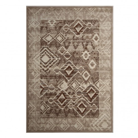 Covor living / dormitor Carpeta Delta 87051-43255 polipropilena heat-set dreptunghiular bej 160 x 230 cm