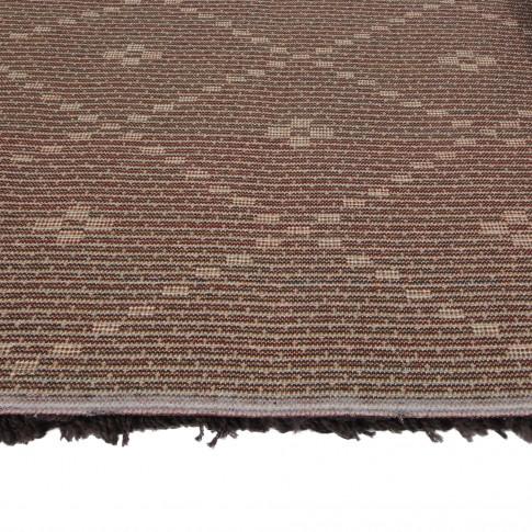 Covor living / dormitor McThree Royal 9550 1H91 polipropilena frize dreptunghiular maro 80 x 150 cm