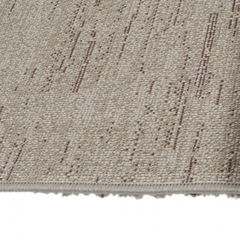 Covor living / dormitor McThree Softness 8769 T974 polipropilena frize, heat-set dreptunghiular mov+crem 80 x 150 cm