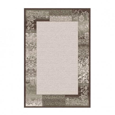 Covor living / dormitor Carpeta Delta 61801-43231 polipropilena heat-set dreptunghiular maro 120 x 170 cm