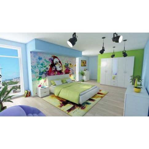 Covor living / dormitor Oriental Weavers Malaga E 8022/CE8 polipropilena frize dreptunghiular multicolor 160 x 235 cm