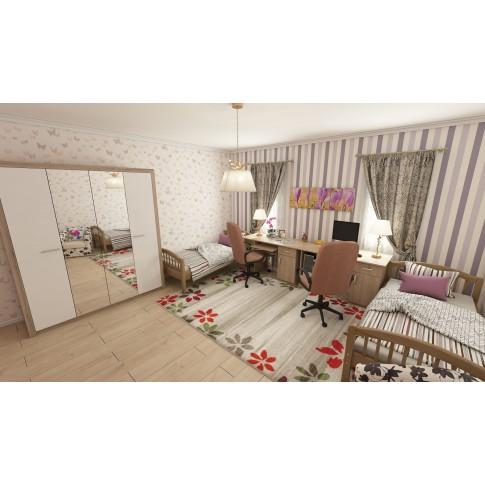 Covor living / dormitor McThree Casin 7079 8S01 polipropilena frize dreptunghiular crem 120 x 170 cm