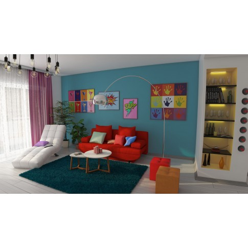 Covor living / dormitor Sintelon Rio 01PPP polipropilena dreptunghiular albastru 140 x 200 cm
