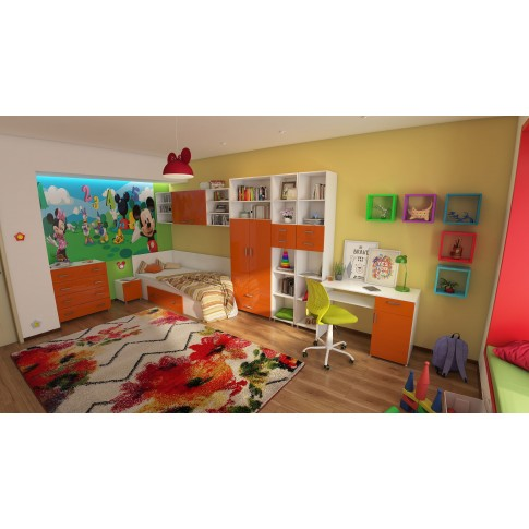 Covor living / dormitor McThree Swing 7554 3P01 polipropilena frize, heat-set dreptunghiular crem 80 x 150 cm