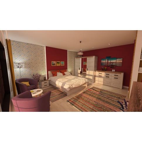 Covor living / dormitor McThree Swing 6251 3P01 polipropilena frize, heat-set dreptunghiular multicolor 60 x 110 cm