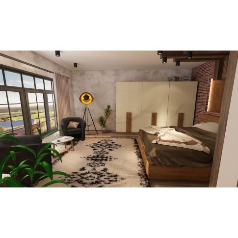 Covor living / dormitor McThree Royal 7948 H901 polipropilena dreptunghiular crem 80 x 150 cm