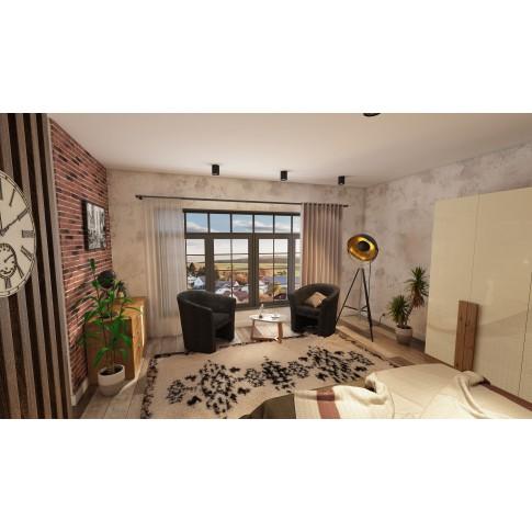 Covor living / dormitor McThree Royal 7948 H901 polipropilena dreptunghiular crem 120 x 170 cm