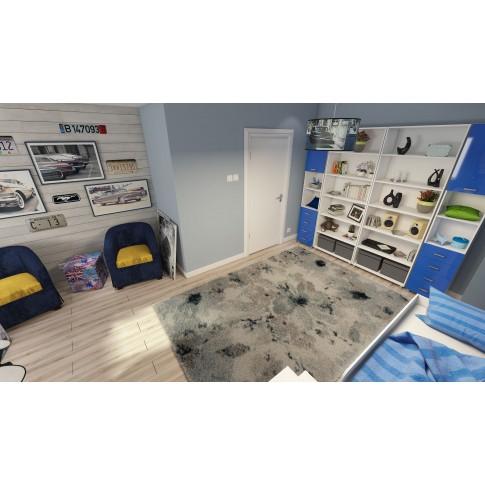 Covor living / dormitor McThree Softness 8289 P301 polipropilena frize, heat-set dreptunghiular crem 80 x 150 cm