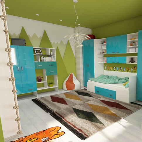 Covor living / dormitor McThree Royal 7946 H901 polipropilena frize dreptunghiular bej 200 x 290 cm