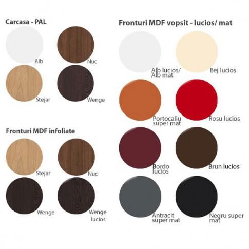 Dulap dormitor Stefan DS1, diverse culori, 2 usi, 103.5 x 55 x 220 cm, 2C