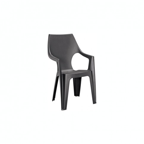 Scaun pentru gradina, Dante Curver, plastic, negru