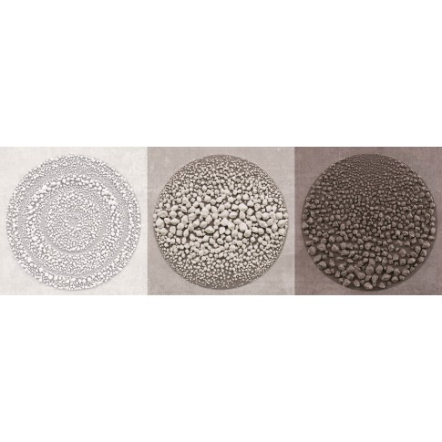 Decor faianta baie / bucatarie Stuttgart Circles A mat bej 25 x 60 cm