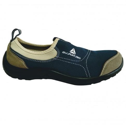 Pantofi de protectie Miami cu bombeu metalic, tip espadrila, poliester + bumbac, albastru, S1P SRC, marimea 43