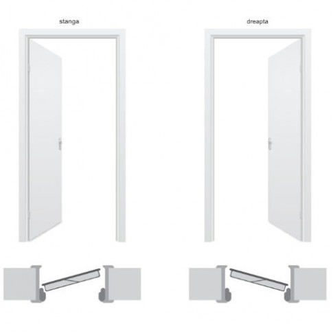 Usa metalica pentru exterior Tracia Traiana, dreapta, maro, 205 x 88 cm + accesorii