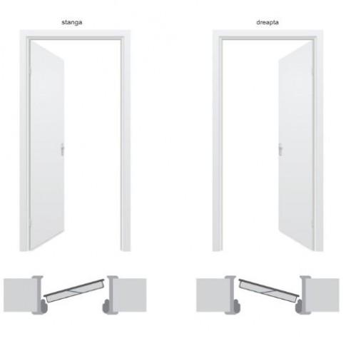 Usa metalica pentru exterior Tracia Traiana dubla, dreapta, maro, 205 x 120 cm + accesorii