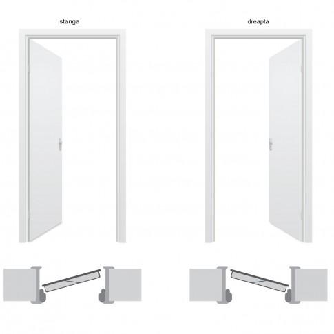 Usa interior metalica BestImp L05G, stanga/dreapta, maro, 202 x 88 cm