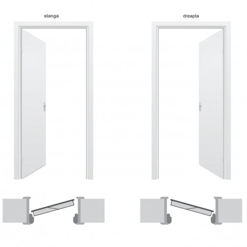 Usa interior metalica Arta Door Clasic PVC, stanga, alb, 201 x 88 cm
