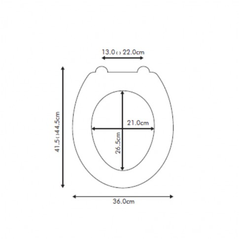 Capac WC din polirasina, KT-038PD21, nisip, inchidere standard, 360 x 415 mm