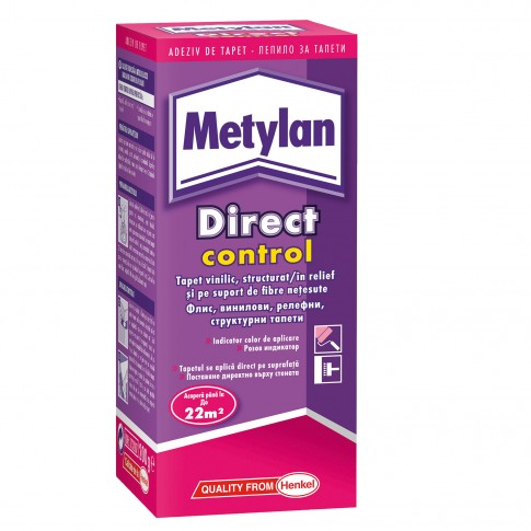 Adeziv pentru tapet, interior, Metylan Direct Control, 200 gr
