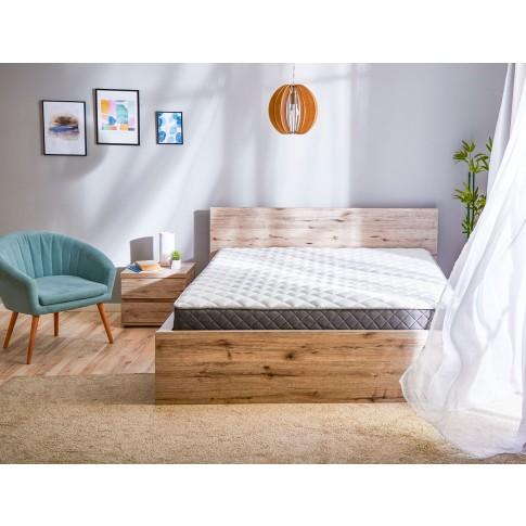 Saltea pat Dormeo Options Silver, cu spuma Ecocell + Formacell, cu arcuri, 140 x 200 cm