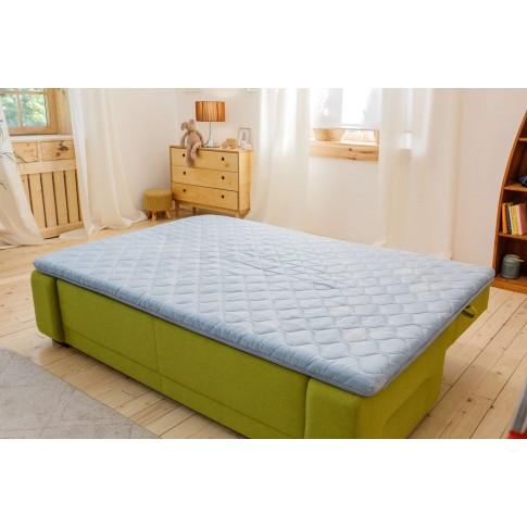 Topper saltea Dormeo Roll Up Green Tea, 160 x 200 cm, cu spuma Ecocell