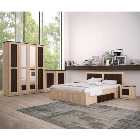 Comoda dormitor Adam, stejar bardolino + sonoma dark, 82 x 74 x 41 cm, 2C