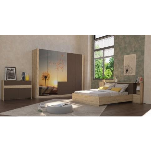 Comoda Verona cu 1 sertar, sherwood + maro, 120 x 75 x 41 cm, 3C