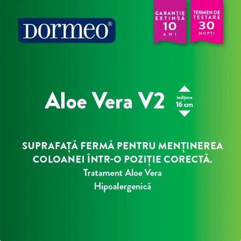 Saltea pat Dormeo Aloe Vera V2, ortopedica, cu spuma Ecocell, fara arcuri, 140 x 200 cm