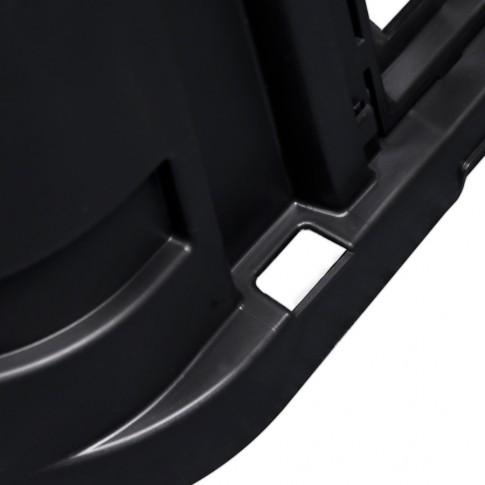 Lada compost pentru gradina, din PVC, neagra, 650 L